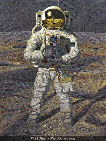 Astronaut White Painting
